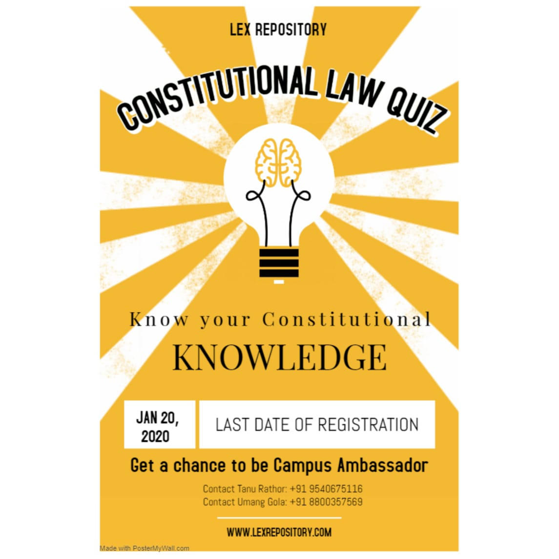 I ONLINE QUIZ COMPETITION ON CONSTITUTIONAL LAW