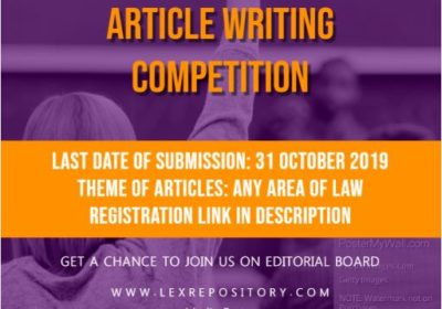 I ARTICLE WRITING COMPETITION