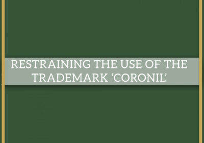 RESTRAINING THE USE OF THE TRADEMARK 'CORONIL'