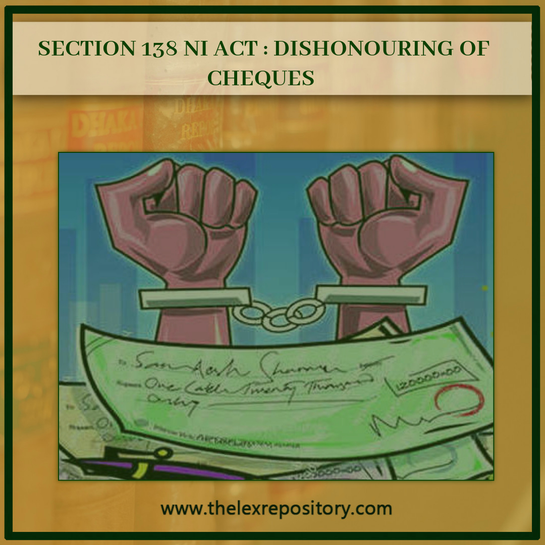 DISHONOURING OF CHEQUES