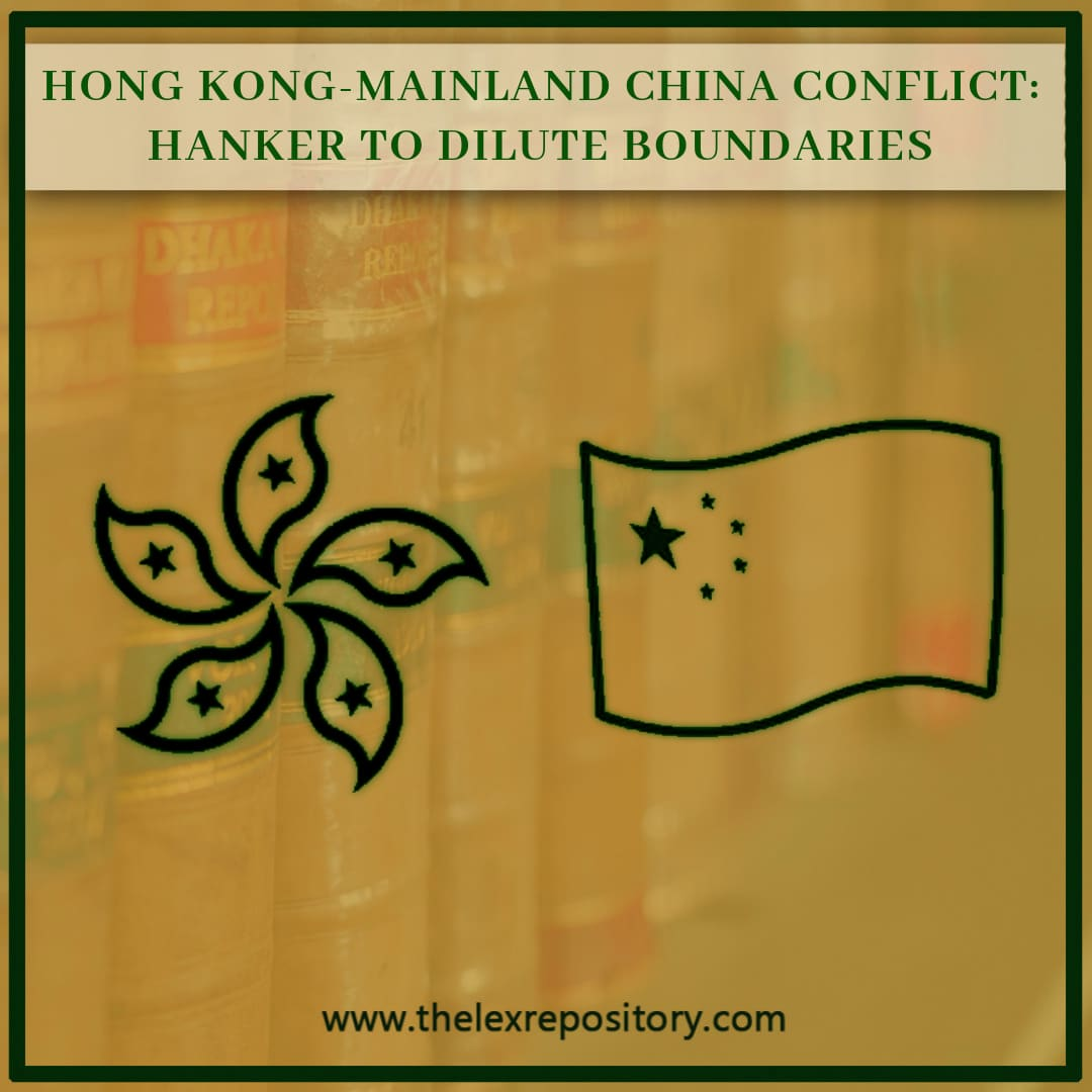 HONG KONG-MAINLAND CHINA CONFLICT