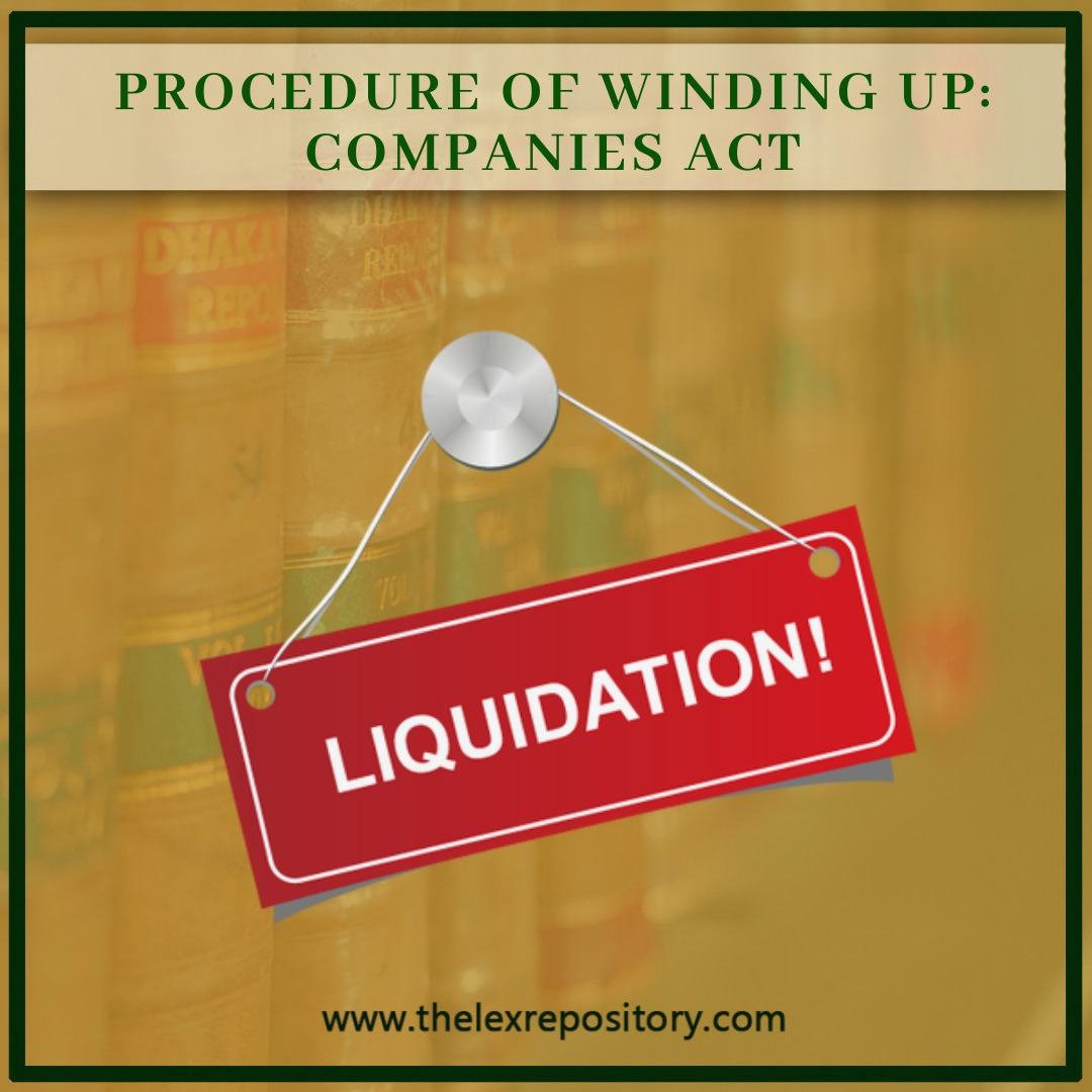 PROCEDURE OF WINDING UP: COMPANIES ACT