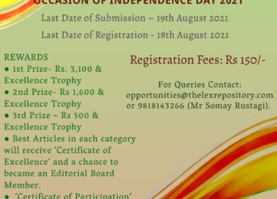 ONLINE ARTICLE WRITING COMPETITION: INDEPENDENCE DAY