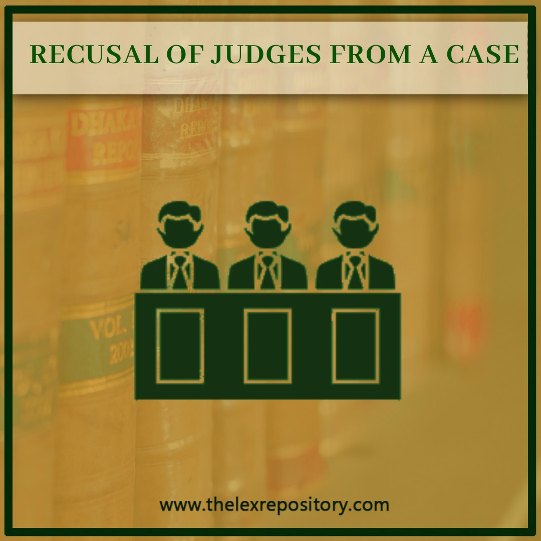 reason for the recusal of judge does not have to disclose in an order of the court Restatement of Value in 78 talks about the recusal of judge